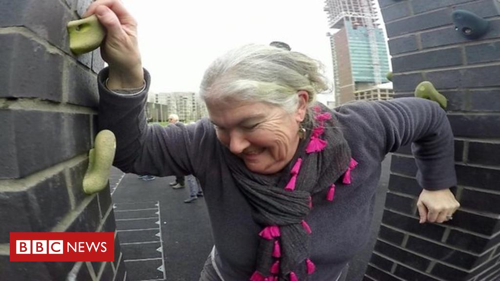 Pensioner parkour: 'I feel perky'